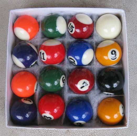 One Set 25mm or 32mm mini biliards ball pool children tool snooker balls(China (Mainland))