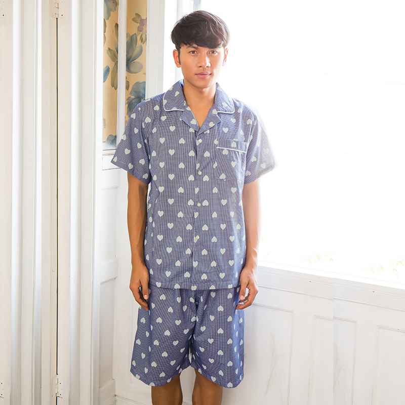 Summer pajamas song Riel love sexy men and women can form a comfortable tracksuit suit Waichuan