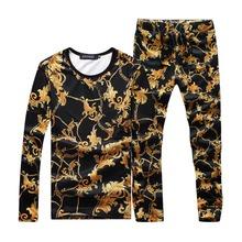 New 2016 Fashion Brand Summer Sweatshirt Mens Luxury Tracksuit Men Sportswear Slim Fit O-Neck Sport Suit Men Track Suit 4XL 5XL