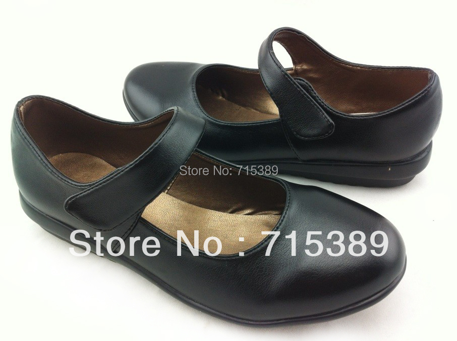 soft flat black leather shoes work shoes