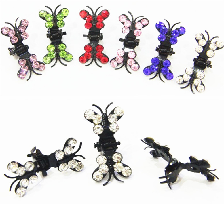 120 Pcs/lot Wholesale New Fashion Butterfly Crystal Hairpins Clips Wedding Bridal Hair Accessories(China (Mainland))