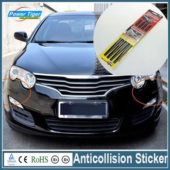 Car Chrome Silver Bumper Grille Car Anticollision Sticker Front Rear Anti-rub Anti-scratch Bumper Strip Sticker Crash Bar