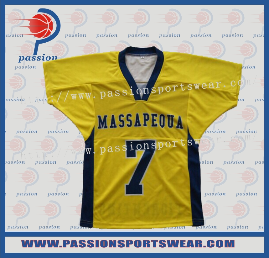 Navy Blue and Yellow Reversible American Football Uniforms Double Sides Sublimated(China (Mainland))