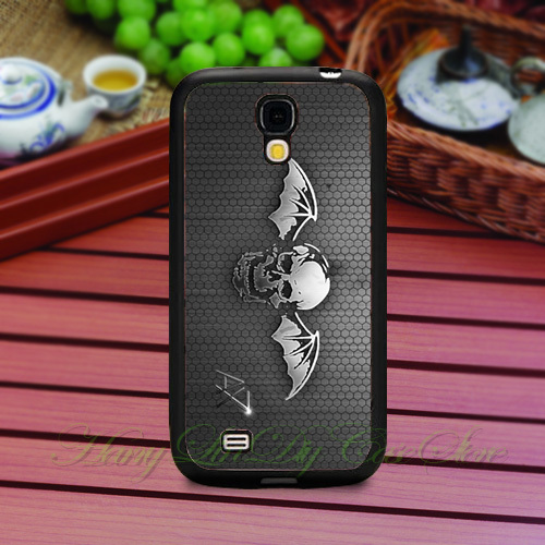 Music Band Avenged Sevenfold TPU Rubber Cover Case for Samsung Galaxy S3 III S4 IV S5 cases(China (Mainland))