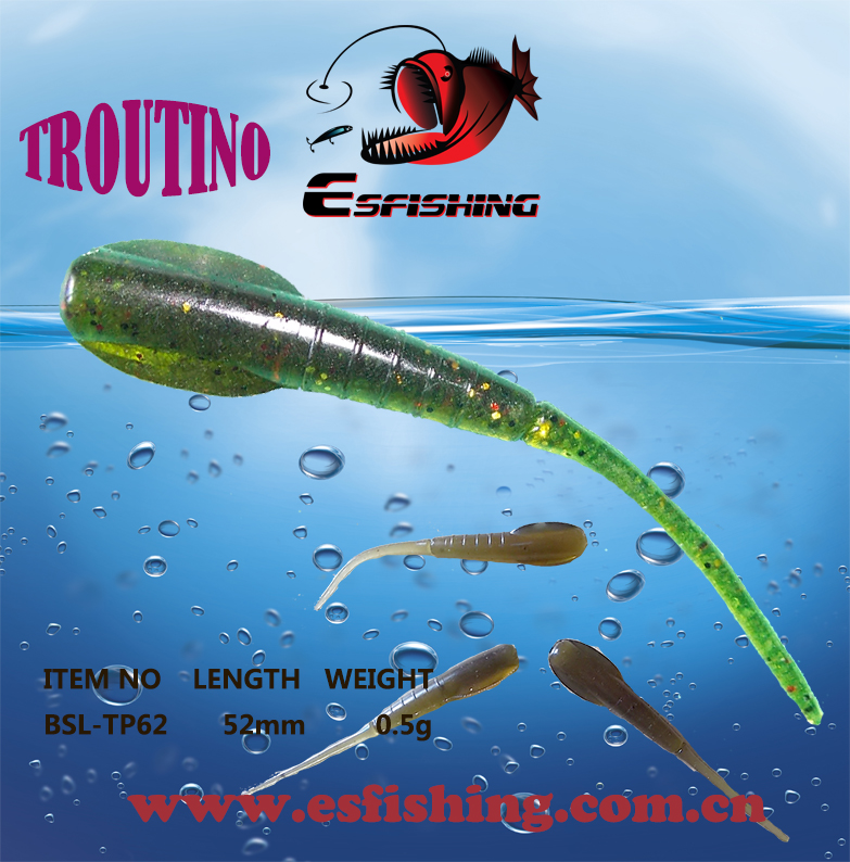 6 colors esfishing troutino 80pcs 4 bags ice fishing for Ice fishing plastics