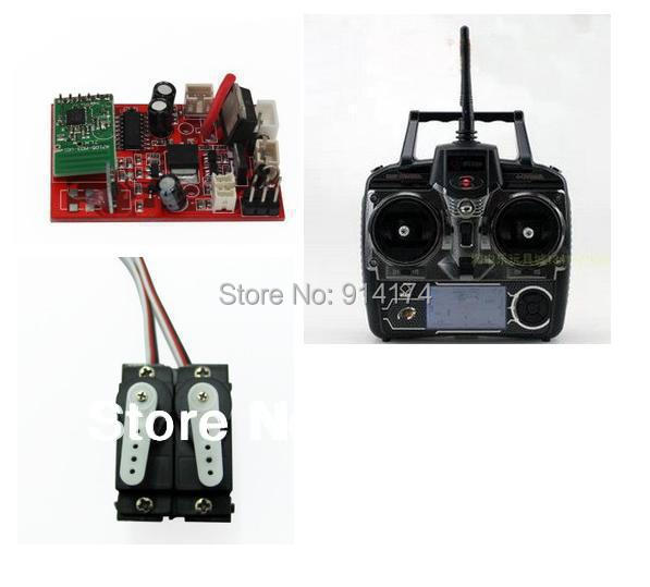 WL Toys V913 2.4G  4 channels R/C helicopter spare part kits 2.4G receiver +2.4G remove control  +servos  free shipping<br><br>Aliexpress