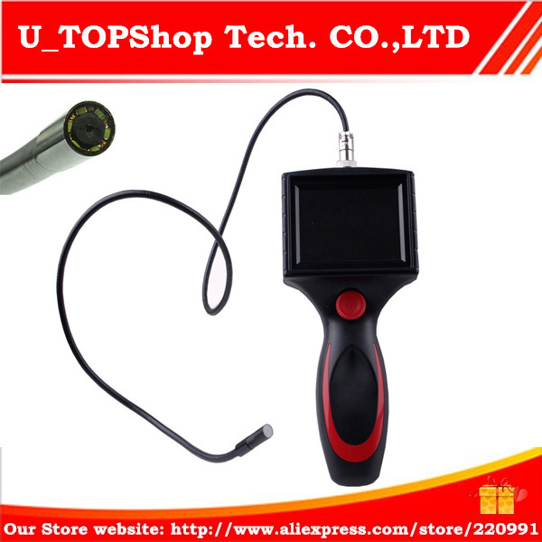 """Free Shipping 8.0mm Borescope Endoscope camera 3.5"""" LCD Inspection Camera 1M Cable Flexible(China (Mainland))"""