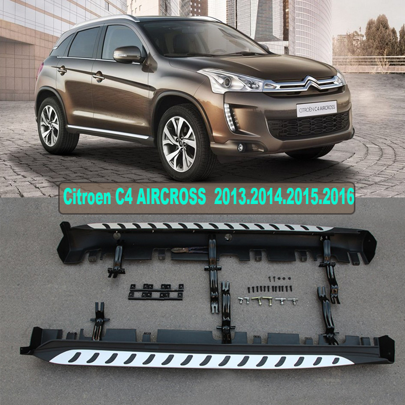 Car Running Boards Auto Side Step Bar Pedals For Citroen C4 AIRCROSS 2013.2014.2015.2016.Brand New Original Design Nerf Bars(China (Mainland))