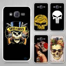 Buy funny skull Hard White Case Cover Samsung Galaxy J1 J2 J3 J5 J7 C5 C7 C9 E5 E7 2016 for $1.49 in AliExpress store