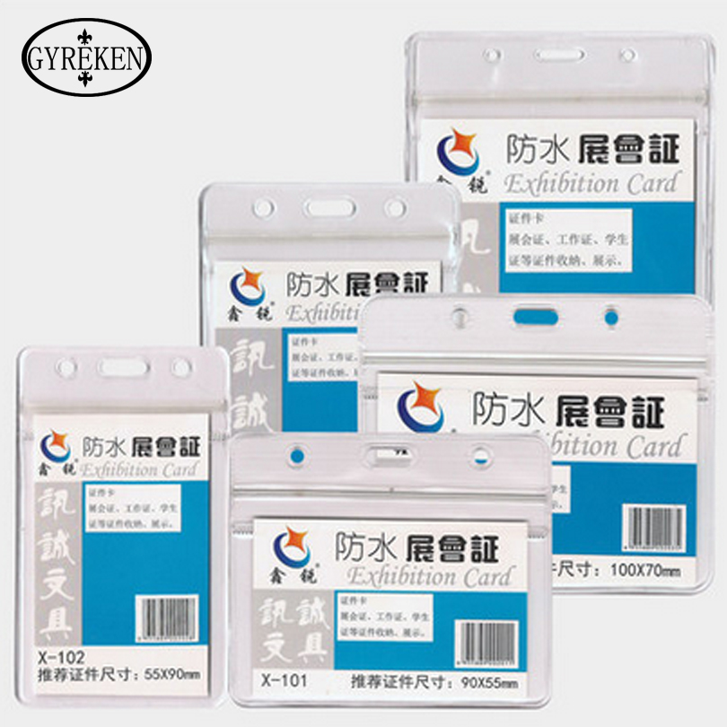 2016 new waterproof exhibition card of the soft transparent chest card of the coat certificate of student ID card PY127(China (Mainland))