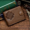 High quality genuine Leather men s Wallets cowhide men purse short size cow leather wallets man