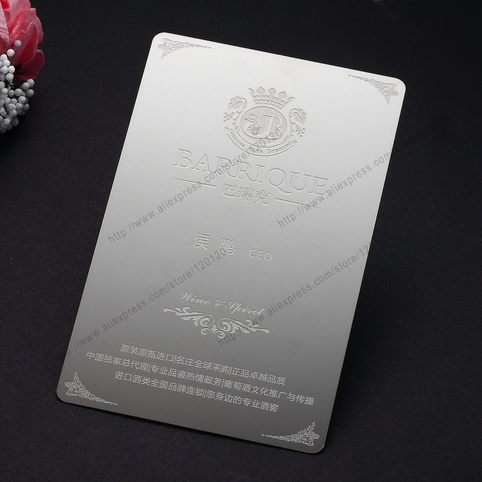 Здесь можно купить  Personalized  profiled cutout quality wre drawing stainless steel business metal card Personalized  profiled cutout quality wre drawing stainless steel business metal card Офисные и Школьные принадлежности