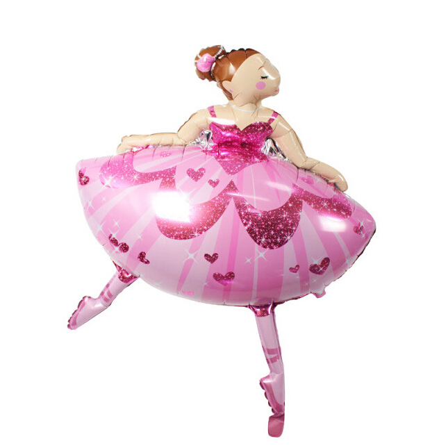 110cm Large Size Ballet Dancing Girl Foil Balloons for Wedding Decoration Birthday Party Decoration Kids Baby Girl Jumbo balloon(China (Mainland))