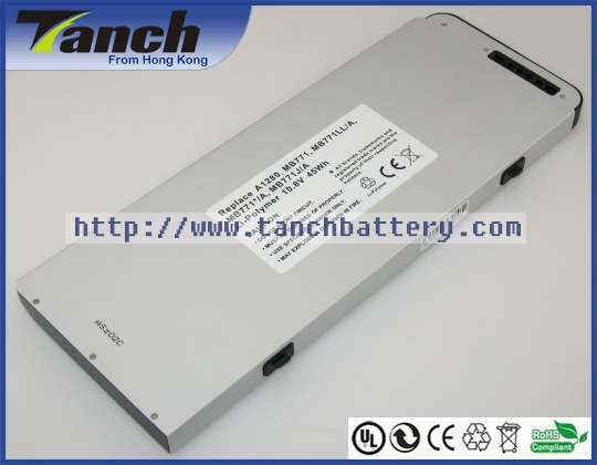 """Replacement APPLE laptop batteries for MB771,LL/A,MacBook 13"""" MB466,CH/A,MB467J/A,MB467X/A,11.1V,6 cell(Hong Kong)"""