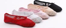 Ballet shoes big Size4-13.5 16~25.5cm soft  girls kids ballet shoes Women Ballet Dance Shoes for children adults ladies(China (Mainland))