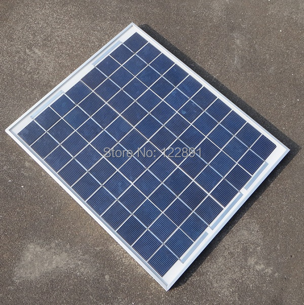 20W 18V Polycrystalline Silicon Solar Panel For 12V Photovoltaic Power Home System 20WP 12VDC Poly Solar Module Free Shipping(China (Mainland))