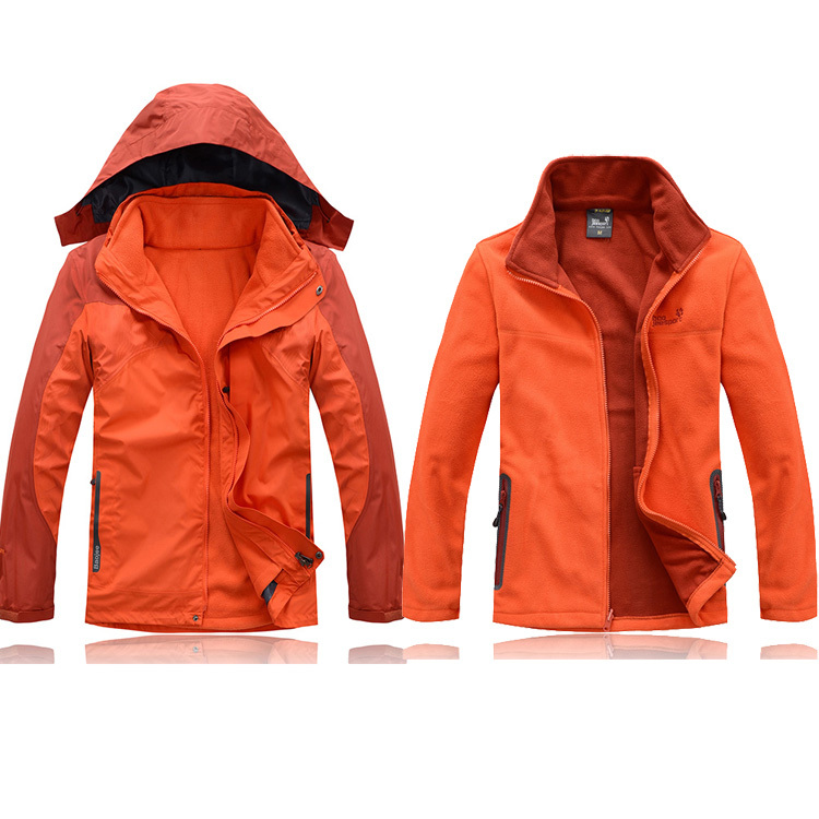 Free shipping Hiking jacket men waterproof windproof thermal softshell jacket men 2014 winter hiking camping ski cycling jacket