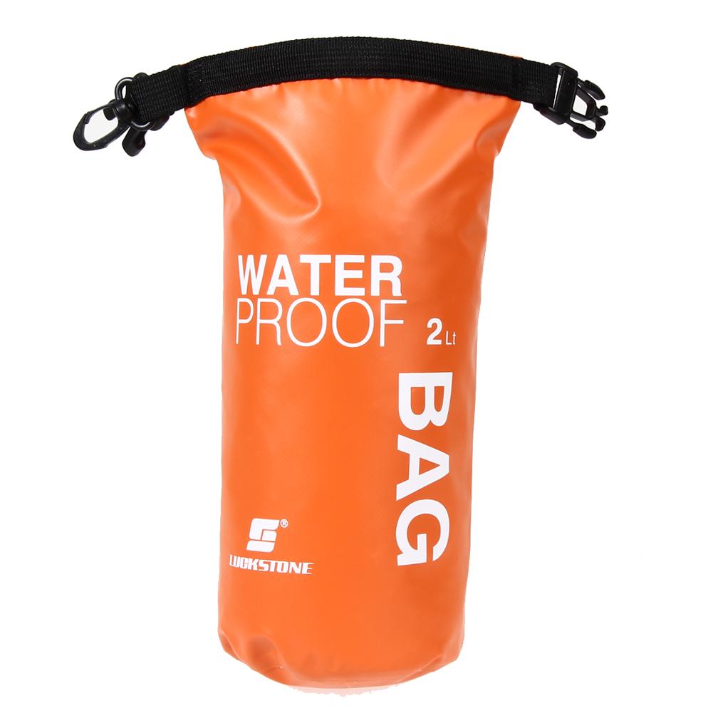 2L Ultralight Outdoor Travel Rafting Waterproof Dry Bag Swim Storage Orange Floating Boating Kayaking Camping Accessories(China (Mainland))