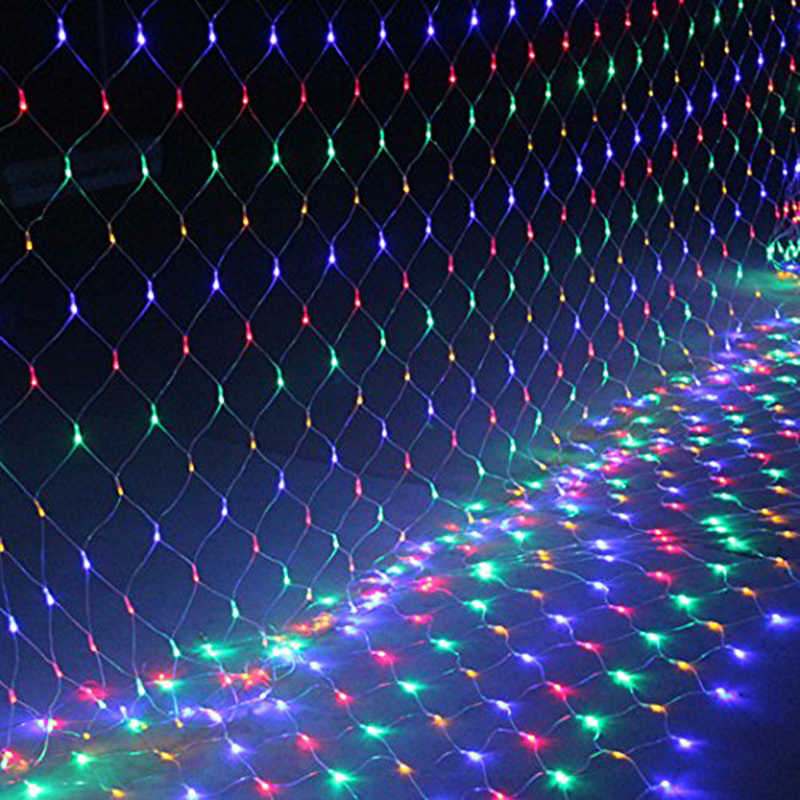 1.5*1.5 M LED curtain lights with 96 leds string light with plug Christmas holidays New year wedding party decoration led lights()
