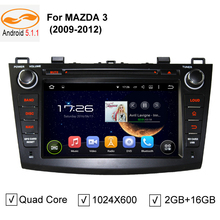 "8"" 1024*600 Quad Core Android 5.1.1 Car DVD Head Unit for MAZDA 3 MAZDA3 2009 2010 2011 2012 Stereo Player GPS TV 3G / 4G Radio(China (Mainland))"