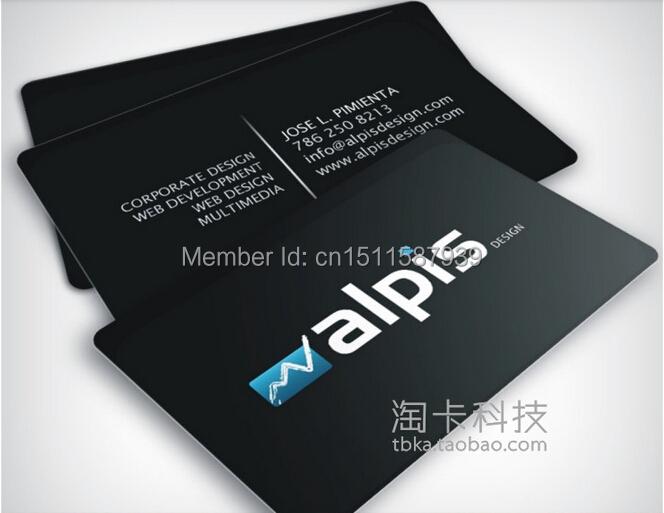Free shipping full colour plastic custom business cards for Custom business cards printing