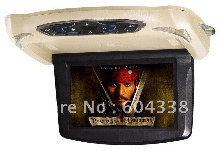 9 inch(10.2 inch for option) 960*600 flip down car DVD player ,DVD+GAMES+SD+USB+dual IR +FM transmitter+MP4+DIVX(China (Mainland))