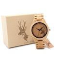 BOBO BIRD All Wood Bamboo Watches Top Brand Designer Men s Wooden Watches Deer Designer Quartz