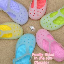 2016 Summer candy EVA fashion sandals hollow breathable shoes for kids boys girls sandals slippers paternity Sandale mom shoes(China (Mainland))