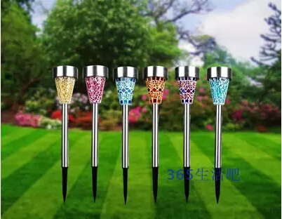 High Qualily Solar Power LED Spot Lights Stainless Steel Landscape Outdoor Garden Path Lawn Lamp Yard landscape solar lighting(China (Mainland))
