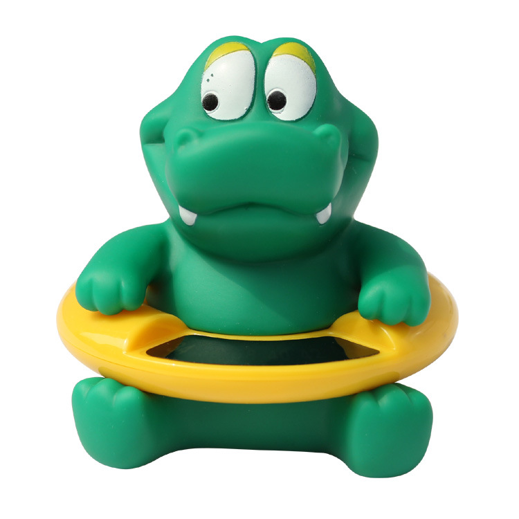 F00009 Cute Crocodile Baby Infant Bath Tub Thermometer Water Temperature Tester kids Bathing Toys(China (Mainland))