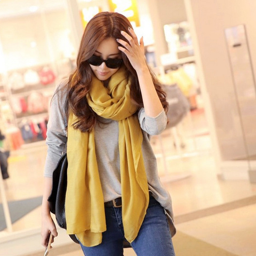 hot sale new arrival Autumn Winter artesanato women scarves fashion Lengthen Cotton scarves warm Solid scarf silk head cachecol(China (Mainland))