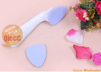 wholesale 36pcs/lot Fashion Electric Bath Facing Brush Facial Massager Skin vibration and facial cleaning[50 off EMS]