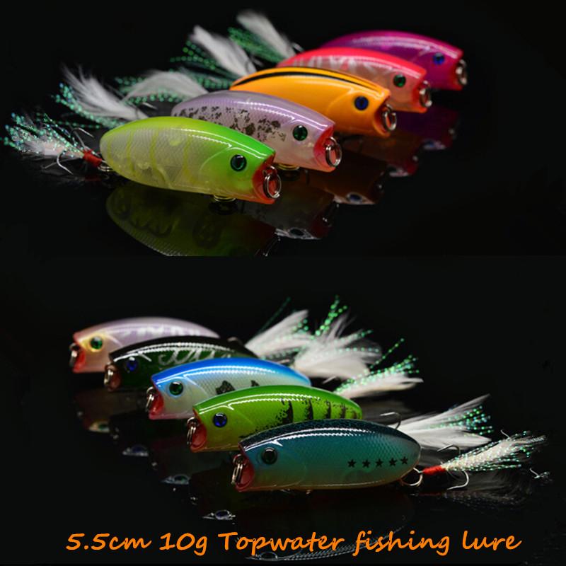 10pcs Topwater fishing lure fit yo zuri rod 5.5cm/10g popper wobbler kosadaka float pesca artificias bait peche Lucky Craft C163<br><br>Aliexpress