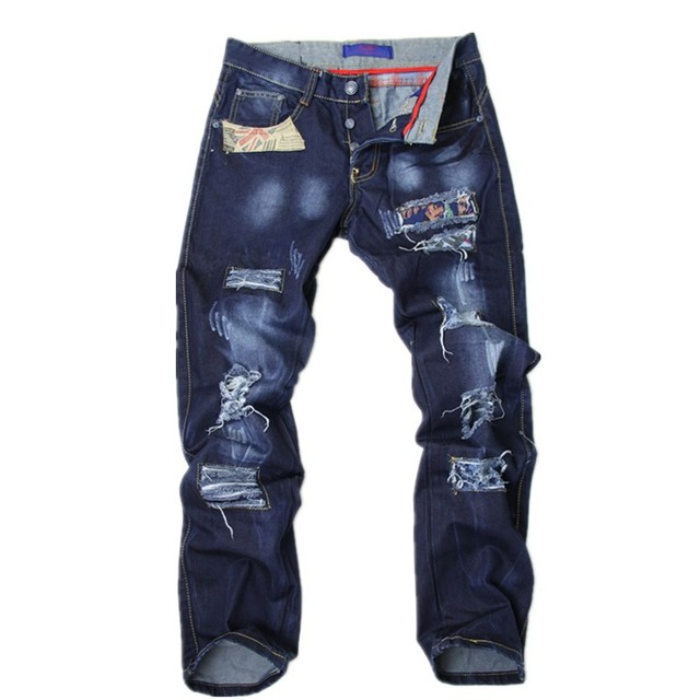 Free shopping Hole jeans denim trousers beggar pants fashion jeans  X-A2101