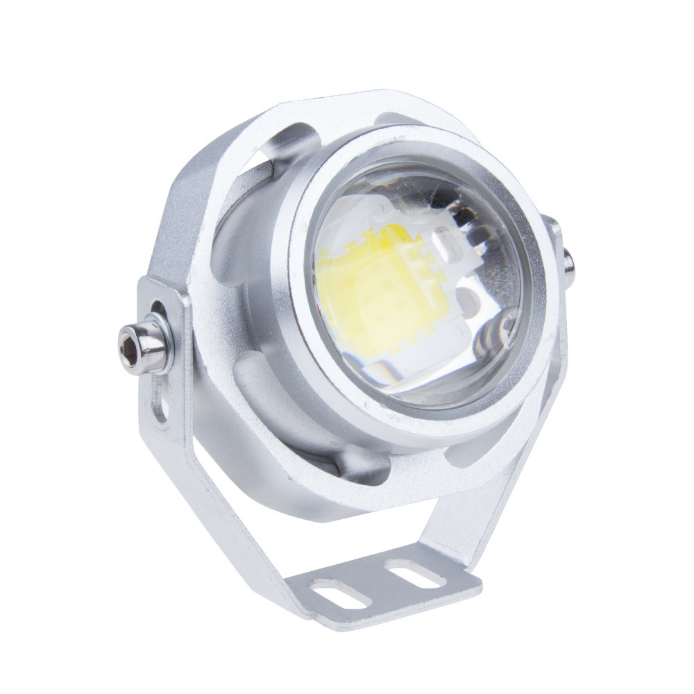 2015 New CREE 10W LED Eagle Eye Lights 12V IP67 Waterproof Car Daytime Running Light Lamp For Parking Silver Housing(China (Mainland))