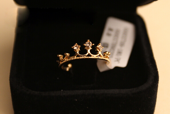 Гаджет  nz290  Free Shipping New Fashion Flash Drill Crown Ring Jewelry Shiny Elegant Beauty Ring wholesale None Ювелирные изделия и часы