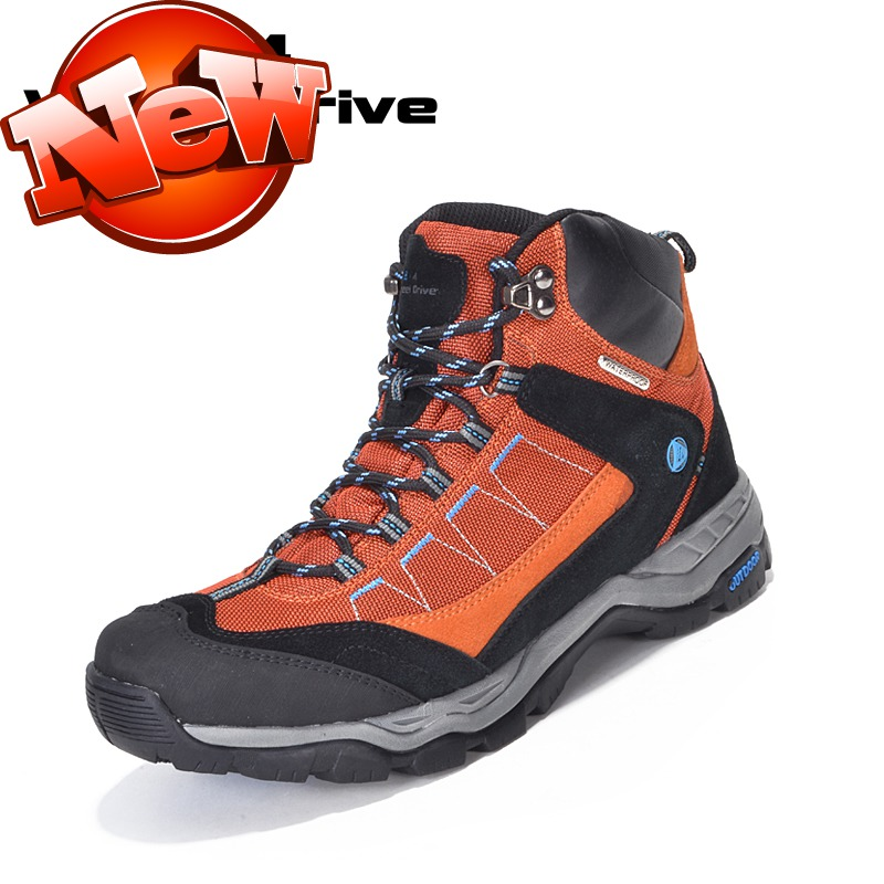 Waterproof hiking shoes male women's lovers casual walking shoes autumn and winter high outdoor athletic shoes(China (Mainland))