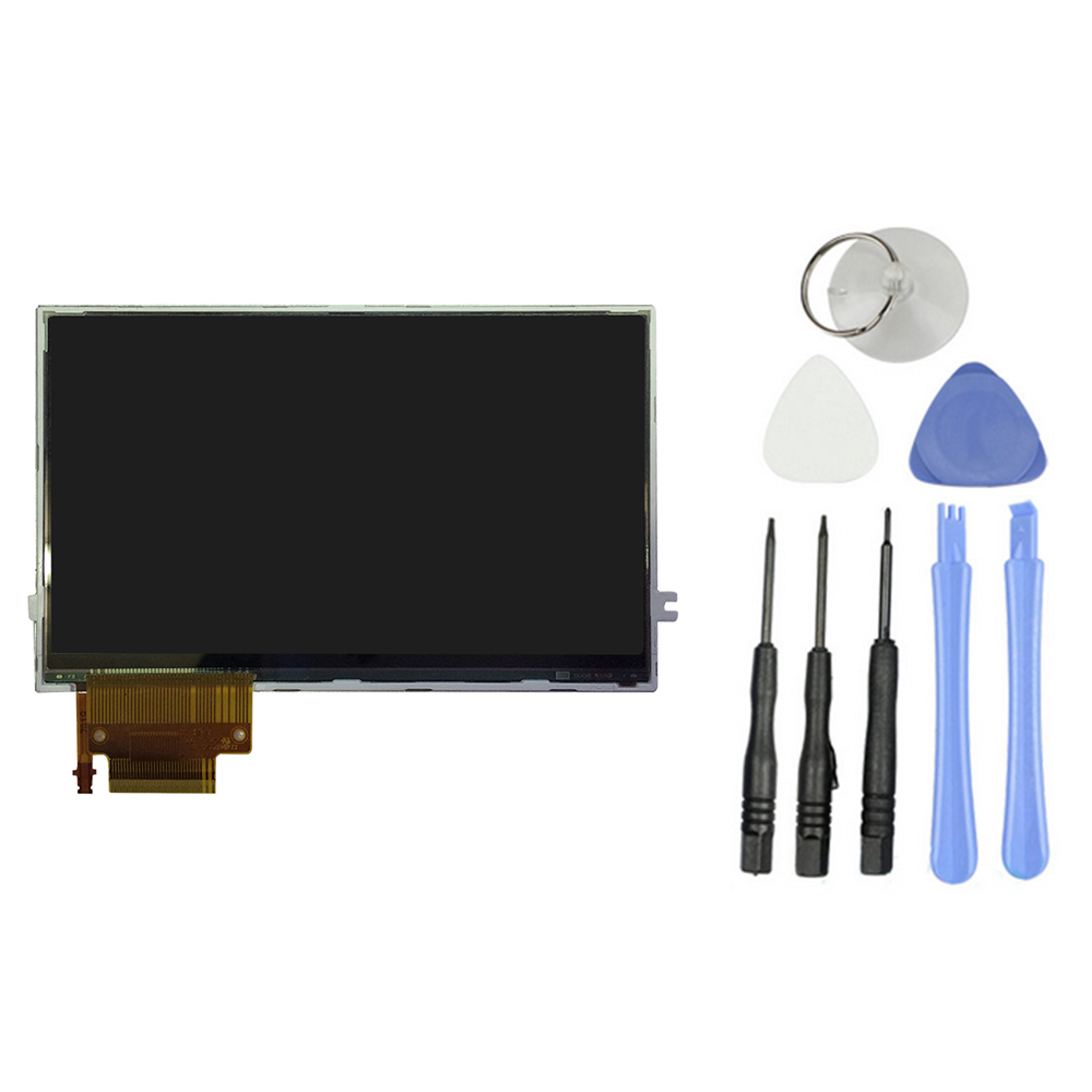 Free shipping New Original LCD Display Screen Backlight Replacement For SONY PSP 2000 2001 Series+ 8 Tools(China (Mainland))