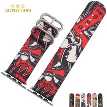 Smart bracelet nylon watch band for apple watch 38mm 42mm watchband waterproof perlon wristwatch strap belt camouflage pattern