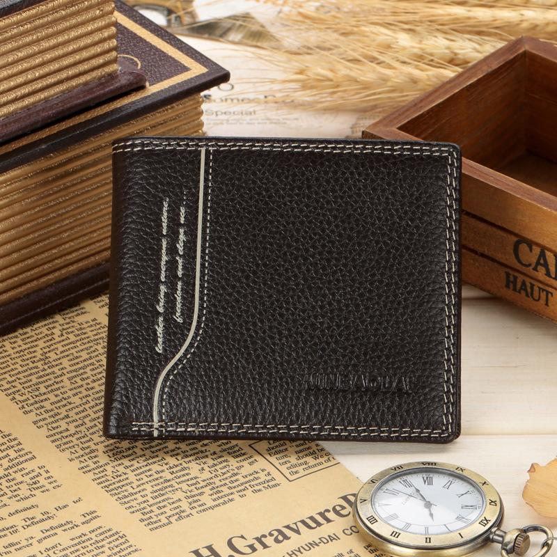 2016 JINBAOLAI New Genuine leather Exquisite Wallet monogrammed Plus exquisite Thread Interior Multi interval SJ16050(China (Mainland))