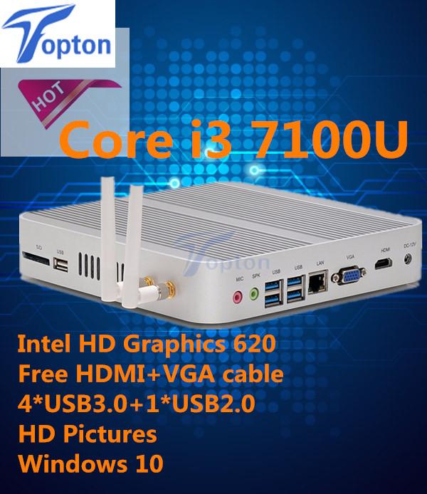 Hot Mini PC i3 7100U Eglobal New Kaby Lake Mini PC 4K HTPC Intel HD Graphics 620 Gaming PC Ultra Nettop 3-year warranty(China (Mainland))
