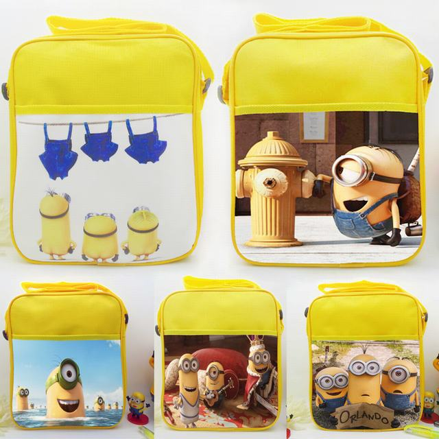 Best Gifts for Kids 3D Minions School Bags for Boys Cute Despicable Me 2 Bag Children Cartoon Shoulder Bags Students Schoolbag(China (Mainland))