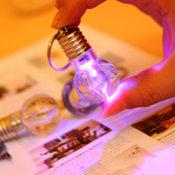 LED bulb Keychain Mini colorful bulb 2015NEW change color light new special lamp(China (Mainland))