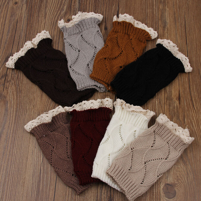 Boot Cuffs Multi Colors Women Gaiters Boot Covers Crochet ...