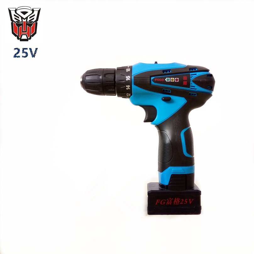 25v Rechargeable Lithium Battery home charging Cordless drill hand Torque Electric Drill bits Electric Screwdriver power tools(China (Mainland))