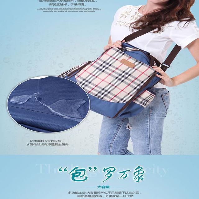 Большая емкость моды личности Сетки Мумия мешок Плеча Сумку женщины рюкзак детские ...