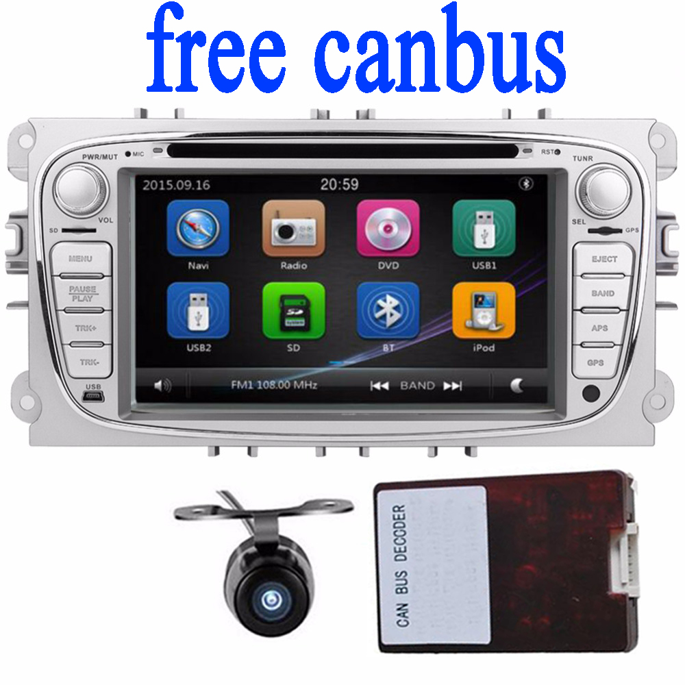 2Din 7Inch Car DVD player for FORD FOCUS MONDEO S-MAX 2008-2011 With WIFI Radio RDS BT for ford focus car radio GPS Navigation(China (Mainland))