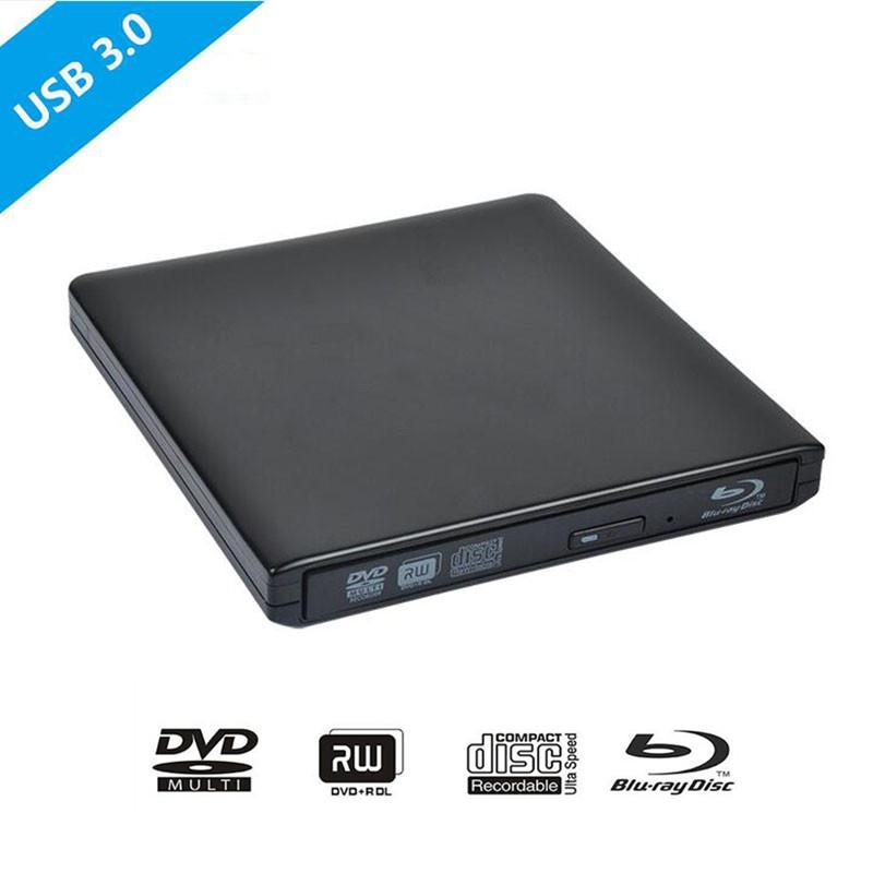 Newest Bluray USB 3.0 External DVD Optical Drive Blu-ray BD-ROM 3D Player CD/DVD-RW player Burner Writer Recorder for Laptop pc