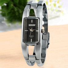 2015 venta caliente nueva moda XIN HUA negro Dial brazalete de la pulsera pulsera de cuarzo para mujer regalos envío gratis