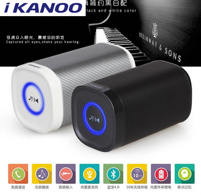 iKANOO i-968 Big power Portable Wireless Bluetooth Speaker 10W Stereo audio sound with microphone for cell phone for laptop pad<br><br>Aliexpress